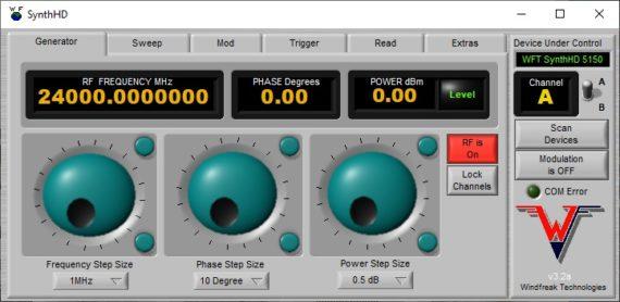 SynthHD RF Signal Generator GUI