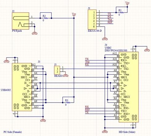 USBC breakout schematic